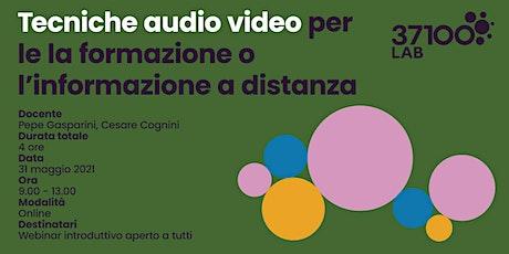 Tecniche audio video biglietti