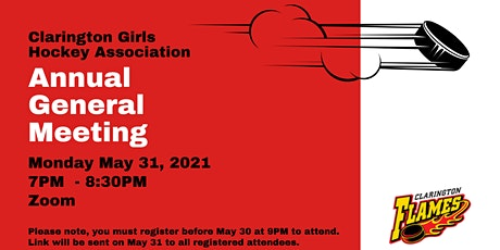 Clarington Girls Hockey  Association Annual General Meeting tickets