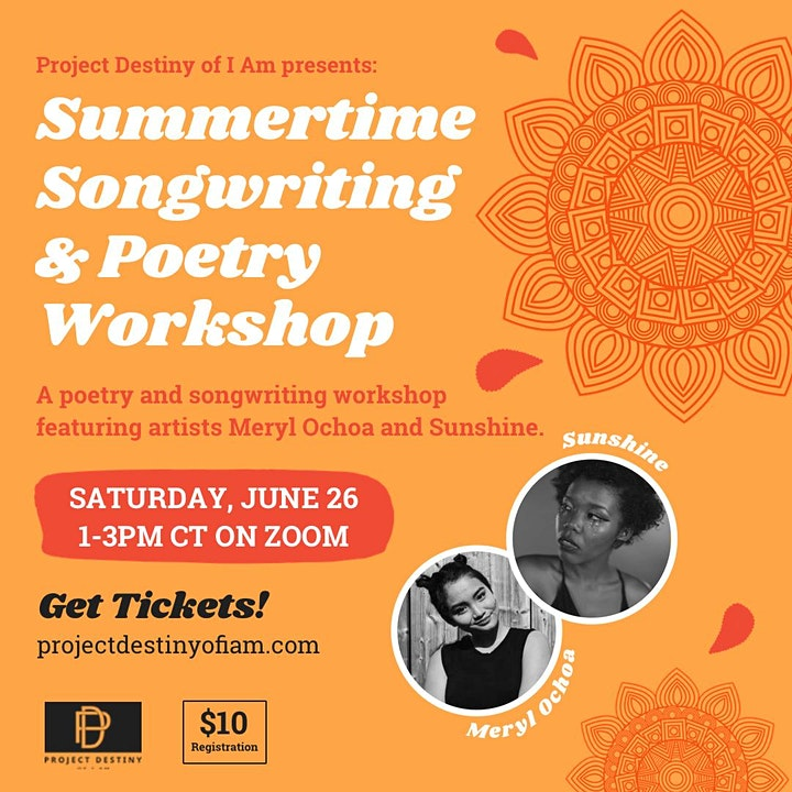 Summertime Songwriting and Poetry Workshop image