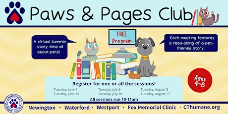 Paws and Pages Club tickets