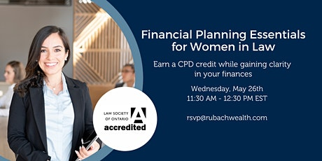 Financial Planning Essentials for Women In Law - Accredited Webinar tickets