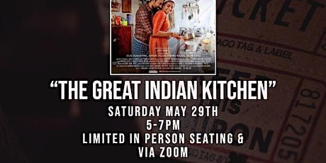 """Film Screening + Discussion """"The Great Indian Kitchen"""" with Chitra Gopala tickets"""