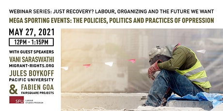 Mega Sporting Events: The Policies, Politics & Practices of Oppression tickets