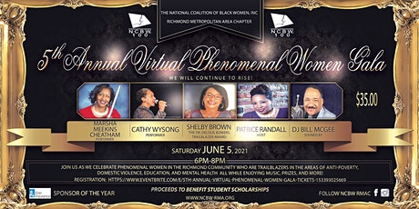 5th Annual Virtual Phenomenal Women Gala boletos