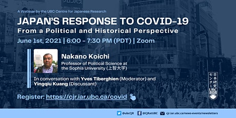 Japan's Response to COVID-19 from a Political and Historical Perspective tickets