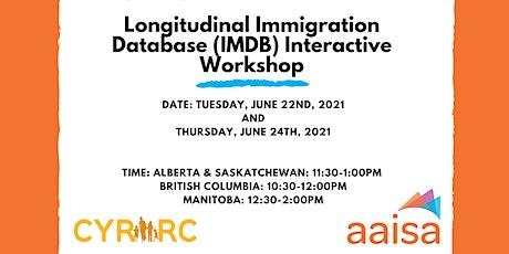 Longitudinal Immigration Database (IMDB) Workshop tickets