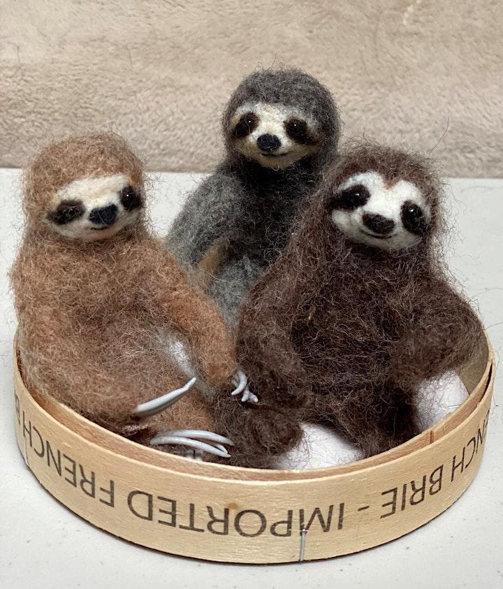 Needle Felting: Fuzzy Sloths image