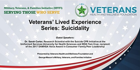 MVFI/VHWF Veterans' Lived Experience Series:  Suicidality & The Family tickets