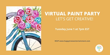 Virtual Paint Party: Bicycle Flowers tickets