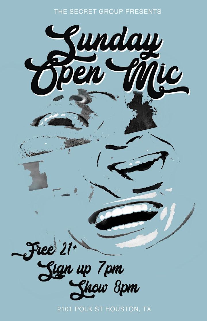 The Secret Group Open Mic image