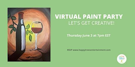 Virtual Paint Party:  Wine Escape tickets