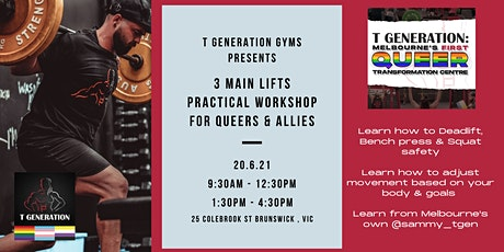 The 3 Main Lifts - Practical Workshop with Coach Sam tickets