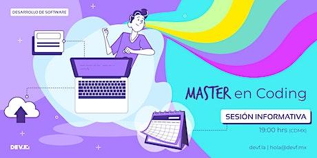 Sesión Informativa Master en Coding 10-5 boletos