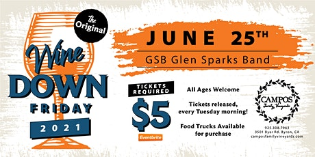 The Original Wine Down Friday - Glen Sparks Band tickets