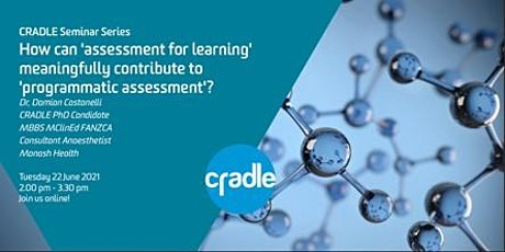 CRADLE Seminar Series: The learning contribution to programmatic assessment tickets