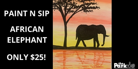 Paint and Sip African Elephant tickets