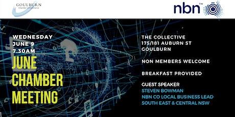 June Chamber meeting featuring NBN Business Fibre Initiative Presentation tickets