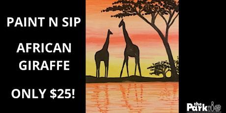 Paint and Sip African Giraffe tickets