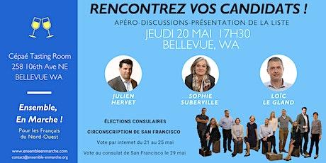Bellevue WA - Rencontre avec les candidats de la liste Ensemble En Marche tickets