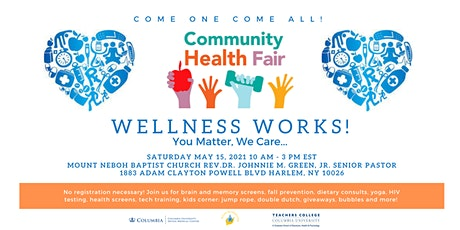 Wellness Works: You Matter, We Care: Community Health Fair tickets