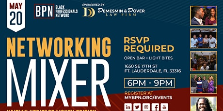 May Networking Mixer sponsored by Demesmin & Dover Law Firm tickets