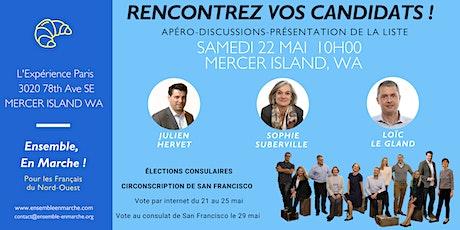MERCER ISLAND - Rencontre avec les candidats de la liste Ensemble En Marche tickets