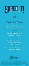 Protect Your Privacy with Document Shredding at Frost tickets