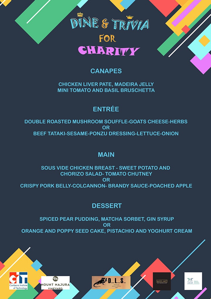 Dine and Trivia for Charity image