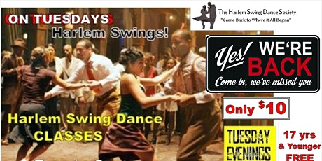 Swing into Spring! Harlem's Lindy Hop and Swing Dance Class  rets  June 1st tickets