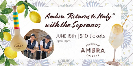 "Ambra ""Returns to Italy"" with the Sopranos. tickets"