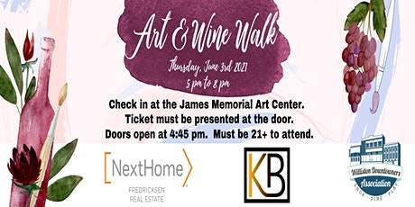 2021 Art & Wine Walk tickets