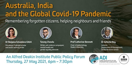 ADI Public Policy Forum: Australia, India and the Global Covid-19 Pandemic tickets