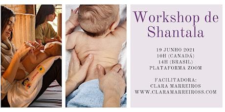 Workshop de Shantala- O Amor através do Toque ingressos