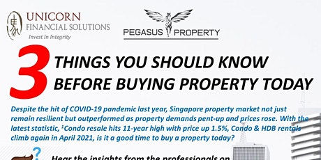 3 Things You Should Know Before Buying Your Property tickets
