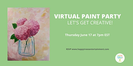 Virtual Paint Party:  Pink tickets