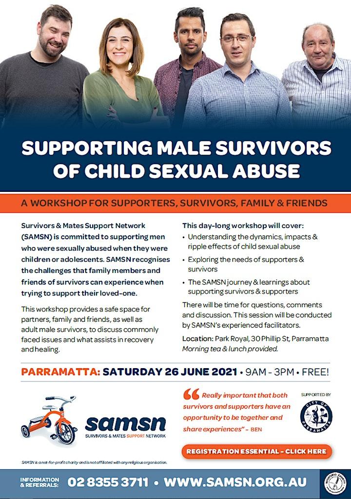 Supporters & Survivors Workshop - Parramatta - 26 June 2021 image