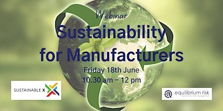 Sustainability for Manufacturers biglietti