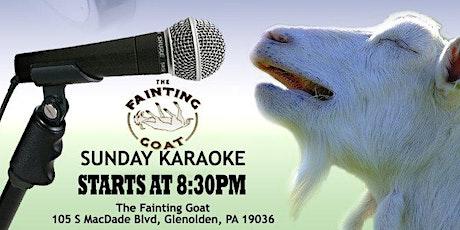 Sunday Karaoke at The Fainting Goat (Glenolden - Delaware County, PA) tickets