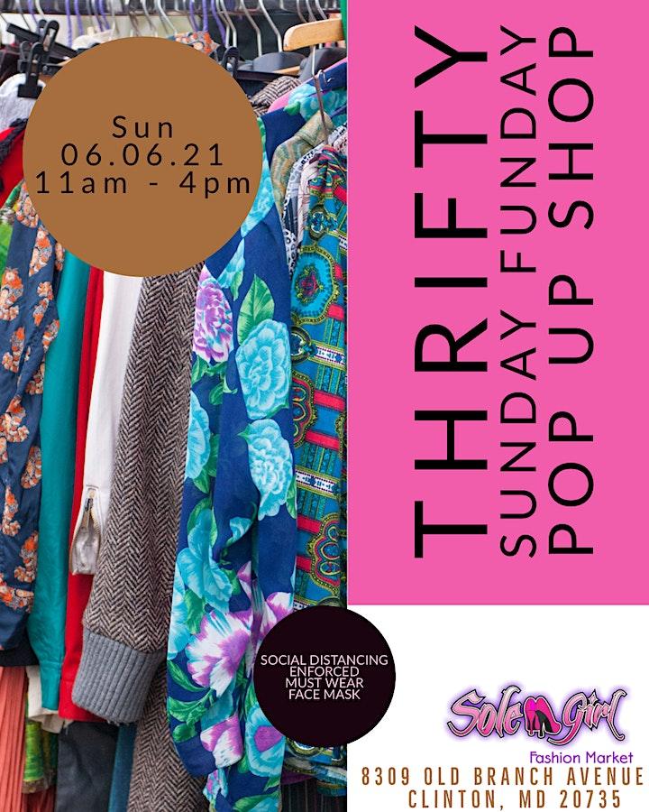 Thrifty Sunday Funday Pop Up Shop image