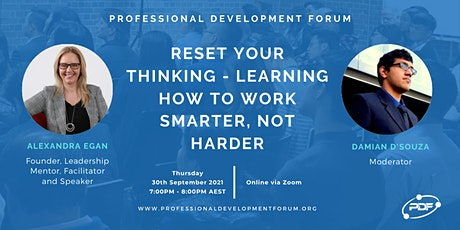 RESET Your Thinking  - Learning How To Work Smarter, Not Harder tickets