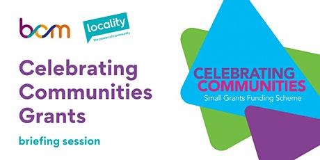 Celebrating Communities Grants - guidance session tickets
