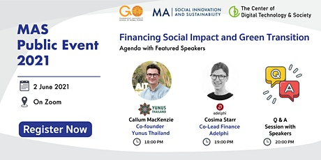 """MAS Public Event Series  """"Financing Social Impact and a Green Transition"""" tickets"""