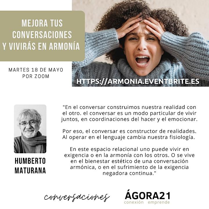 Imagen de MEJORA TUS CONVERSACIONES Y VIVIRÁS EN ARMONÍA - 18 de Mayo
