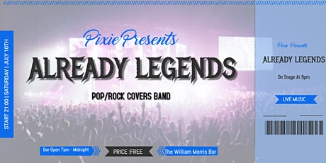 Already Legends Pop/Rock Covers Band At The William Morris Bar tickets