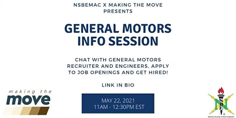 GENERAL MOTORS INFO SESSION tickets