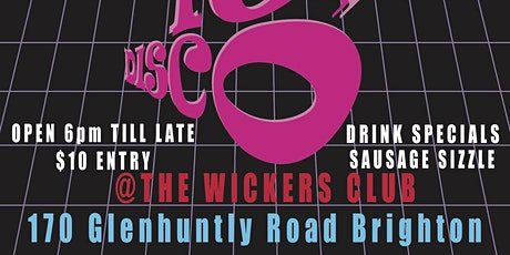 DO IT DISCO! 70s & 80s Disco Party at The Wickers :) tickets