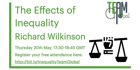 The Effects of Inequality - Richard Wilkinson tickets