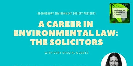 A Career in Environmental Law: The Solicitors tickets