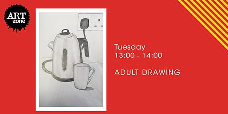 Live Lunchtime Drawing Class for Adults tickets