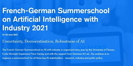 French-German Summer School on Artificial Intelligence with Industry 2021 tickets